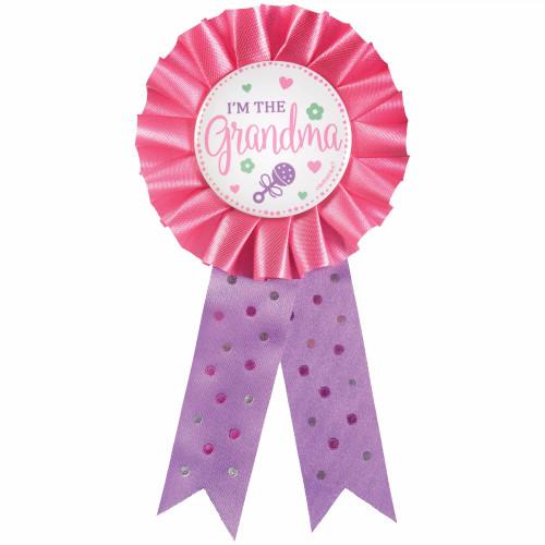 I'm the Grandma Award Ribbon Badge New Baby, Shower