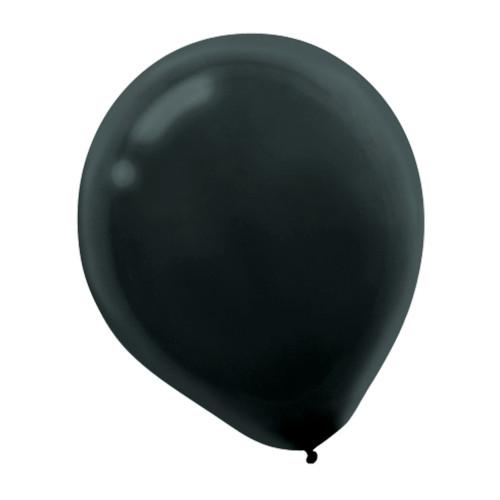 "Black Latex Round Balloons 12"" 72 Ct Helium Quality"