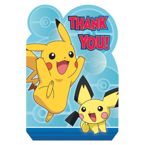 Pokemon Core Pikachu 8 Ct Thank You Postcards Seals Envelopes