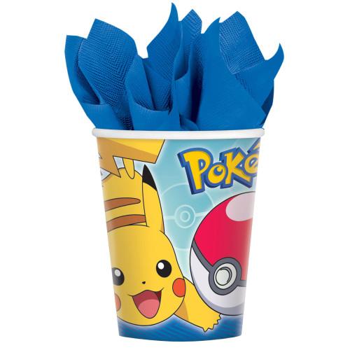 Pokemon Core Pikachu 8 ct 9 oz Hot Cold Paper Cups