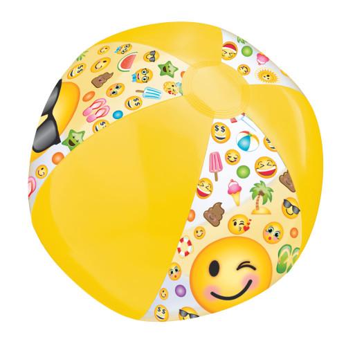 LOL Emoji Inflatable Plastic Beach Ball 13 inch Yellow