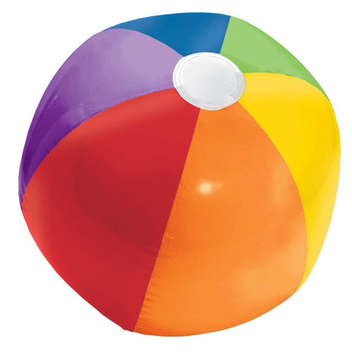 Rainbow Classic Inflatable Plastic Beach Ball 13 inch