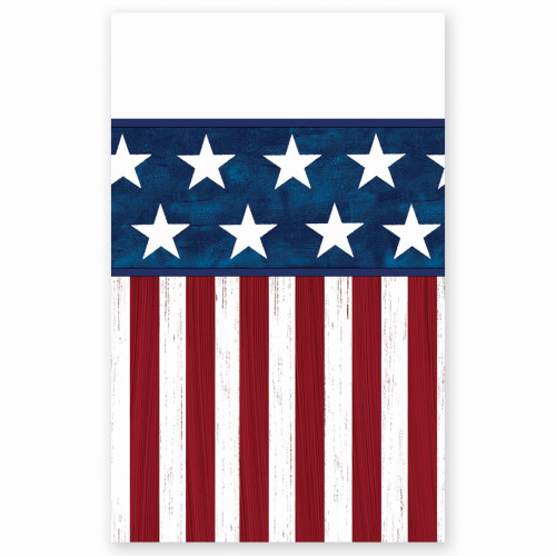 Americana Red White Blue 4th July 54 x 96 Tablecover