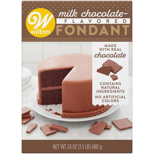 Milk Chocolate Flavored Fondant for Cake Decorating 24 oz.
