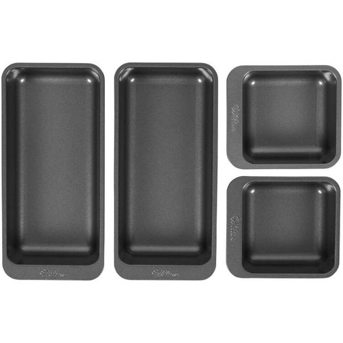 Perfect Results Square and Oblong Premium Non-Stick Baking Pan Set of 4