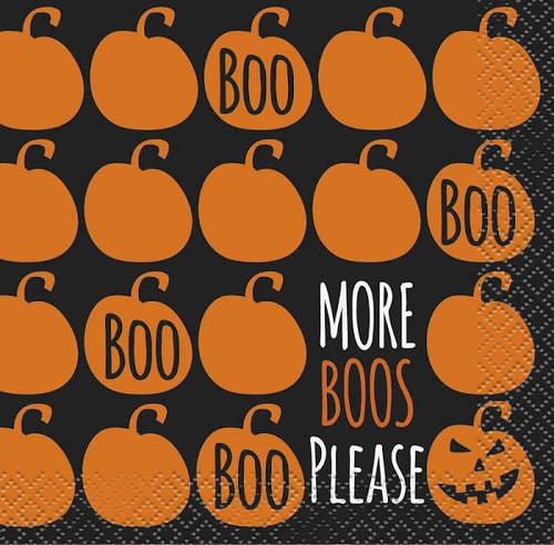 More Boos Please 16 Ct Halloween Beverage Napkins