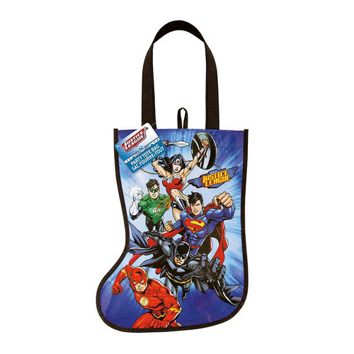"""Justice League Christmas Stocking Tote Bag 13"""" x 9.5"""""""