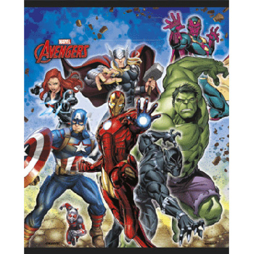 Avengers Plastic Loot Favor Bags 8 Ct Birthday Party