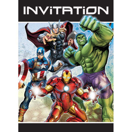 Avengers Party Invitations 8 ct