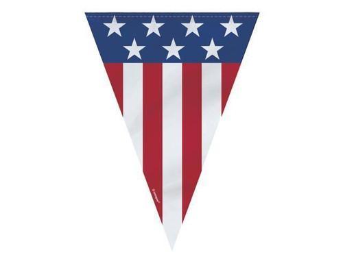 Patriotic Flag Stars Stripes Red White Blue Banner 4th July