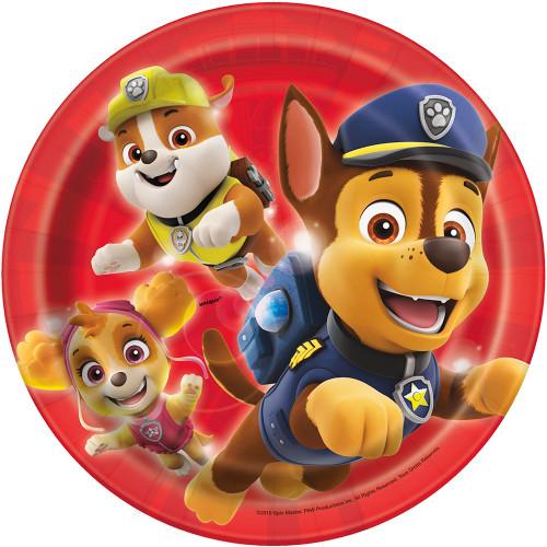 "Paw Patrol 8 Ct 7"" Paper Dessert Cake Plates Rubble Skye Chase"