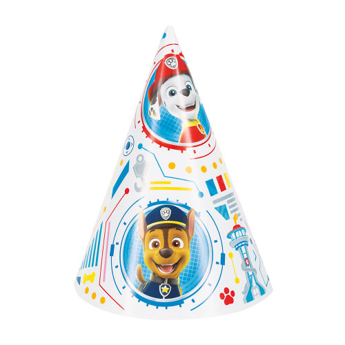 Paw Patrol 8 Ct Paper Cone Party Hats Chase Marshall
