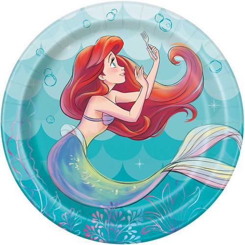 Ariel Little Mermaid 8 Ct 7 inch Dessert Cake Plates
