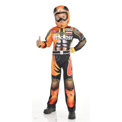 Motocross Driver Boys Medium 8-10 Costume