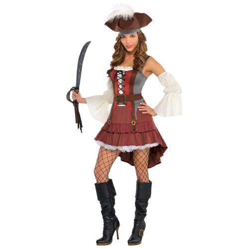 Castaway Pirate Woman Costume Small 2 - 4