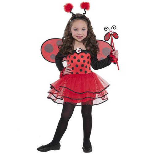 Ballerina Bug Ladybug Costume Girls Child Small 4 - 6