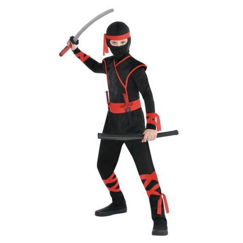 Shadow Ninja Boys XLarge 14-16 Costume XL Red Black