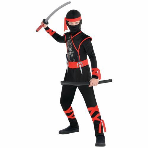 Shadow Ninja Boys Large Costume Red Black