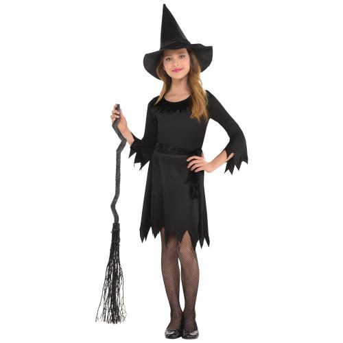 Lil' Witch Black Costume Girls 8 - 10 Medium