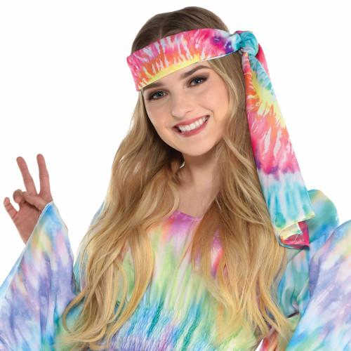 Hippie Headscarf 60's Tie Dye Multi Color