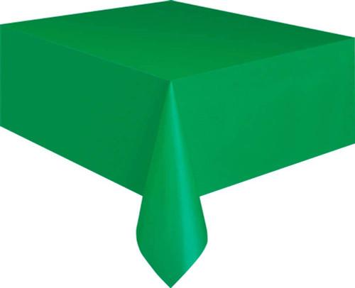 Emerald Green Plastic Banquet Tablecover 54 x 108