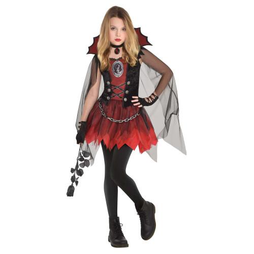 Dark Vamp Costume Girls Medium 8 - 10 Vampire