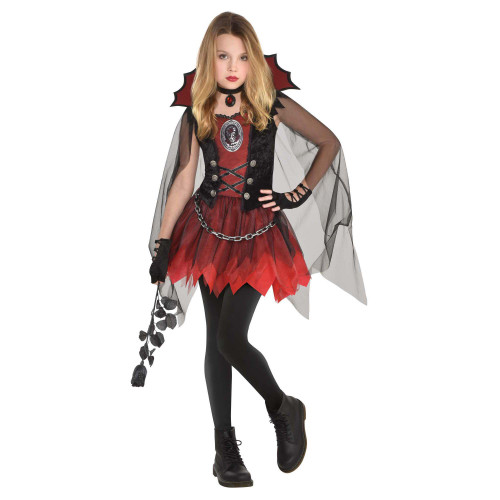 Dark Vamp Costume Girls Large 12 - 14 Vampire