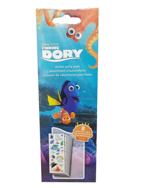 Dory Party Favor 128 Stickers 1 package  8 sheets