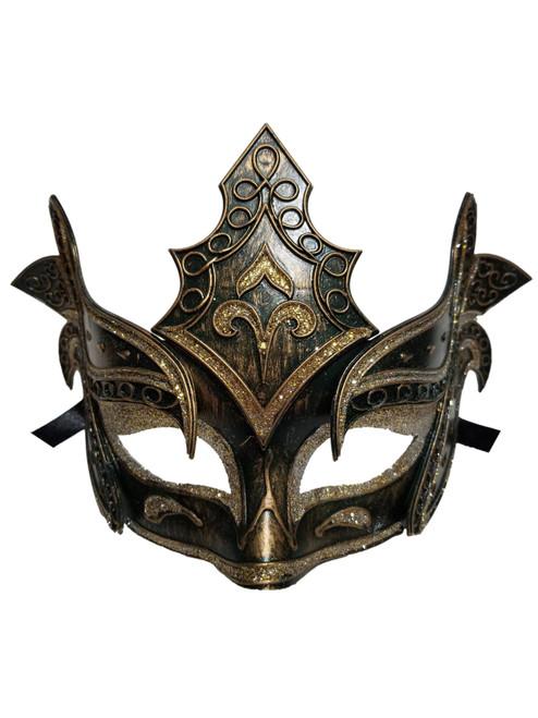 Bronze Silver Warrior Men Venetian Mardi Gras Halloween Masquerade Mask
