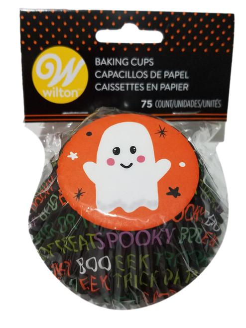 Ghost 75 ct Baking Cups Standard Cupcake Liners Wilton Halloween
