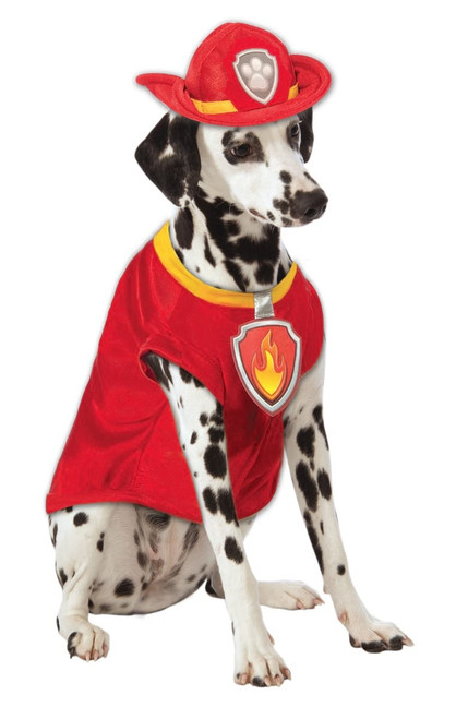 Paw Patrol Marshall The Fire Dog Medium Rubies Pet Shop Dog Costume