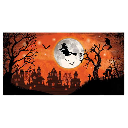 Halloween Night Scene Setters Wall Decoration Haunted House Witch