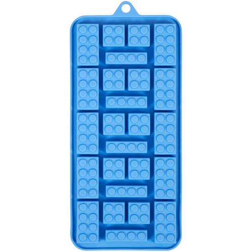 Bricks Silicone Candy Mold Wilton 25 Cavities Blue