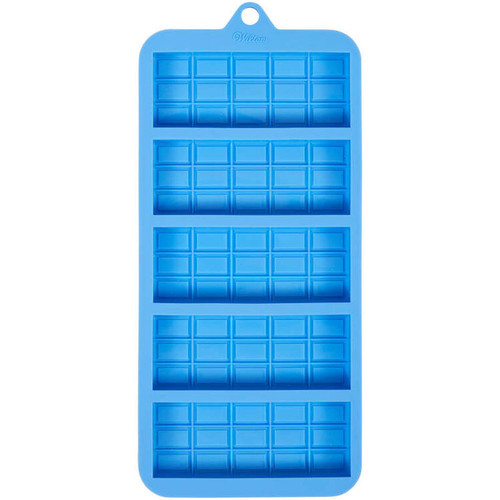 Candy Bar Silicone Candy Mold Wilton 5 Cavities Blue