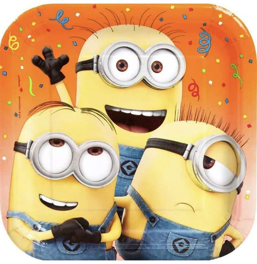 """Despicable Me Minions 8 ct 9"""" Luncheon Plates"""