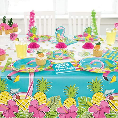 "Pineapple Flamingo Luau 3 ct Mini 6"" Centerpiece Decorations"