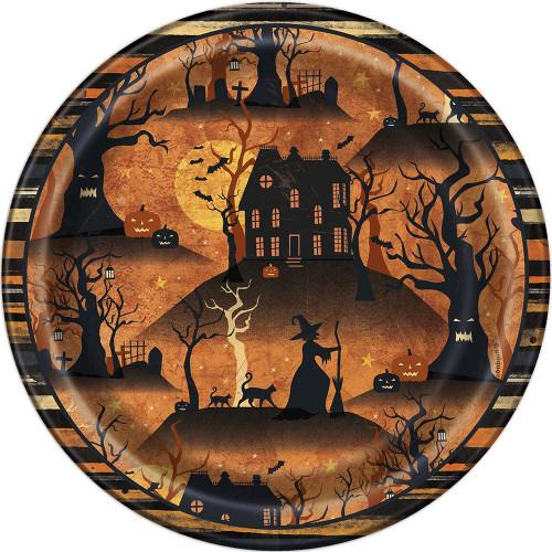 "Full Moon Halloween 8 Ct Dessert Cake 7"" Plates"