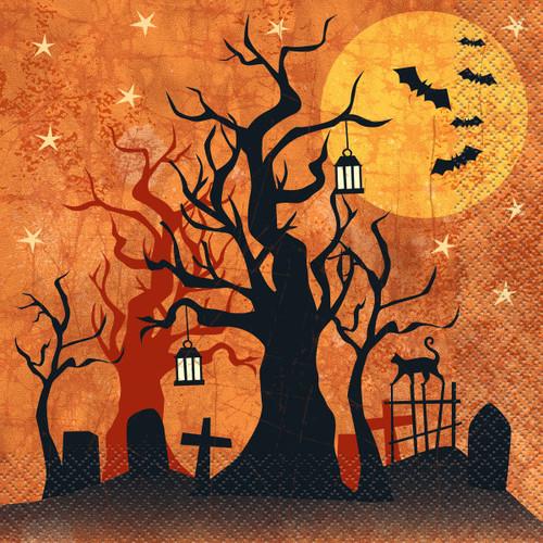 Full Moon Halloween 16 Ct Luncheon Napkins