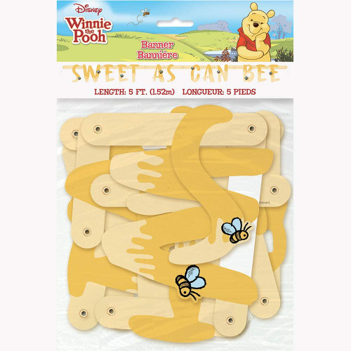 Winnie The Pooh Sweet As Can Bee Jointed 5 Ft Banner Birthday Shower