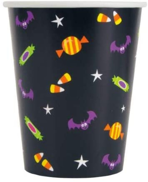 Cat and Pumpkin Halloween 8 Ct 9 oz Hot Cold Cups