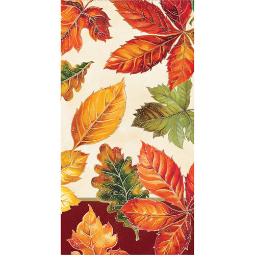 Vibrant Leaves 16 Ct 3 Ply Guest Napkins Thanksgiving Fall