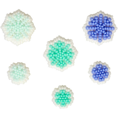 Snowflakes Christmas Dot Matrix Icing Decorations 24 Ct Wilton