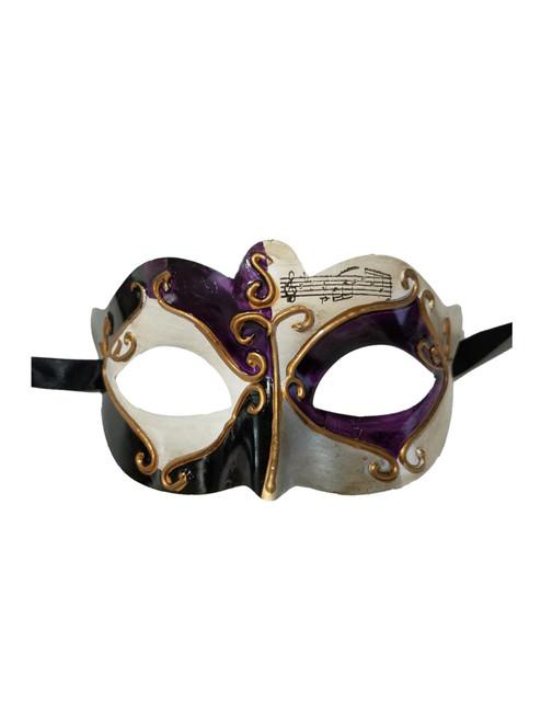 Purple Black Gold Small Venetian Masquerade Mardi Gras Mask