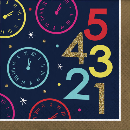 New Years Eve Countdown 16 Ct Lunch Napkins