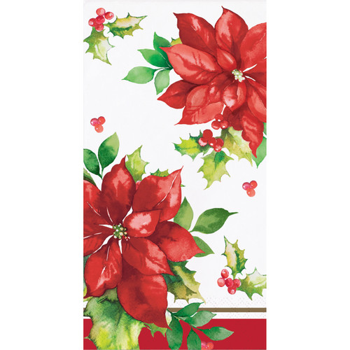 Perfect Poinsettia 16 Ct 3 Ply Paper Guest Napkins