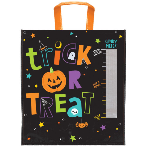 """Candy Meter Deluxe Halloween Trick or Treat Loot Tote Bag 16"""" x 14"""""""