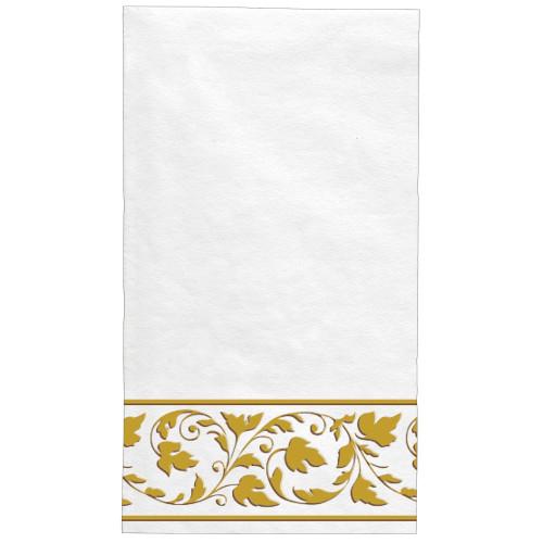 White Gold Trim Premium Quality 24 ct Guest Napkins Paper