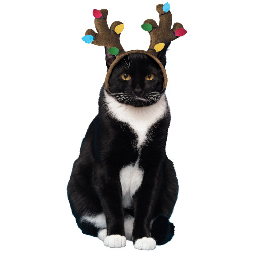 Pet Cat Dog Reindeer Antlers Christmas Headband Small Costume