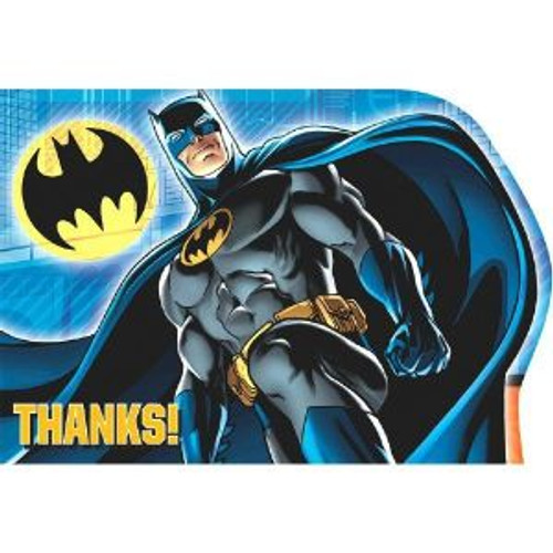 Batman Birthday Party 8 Thank You PostCards