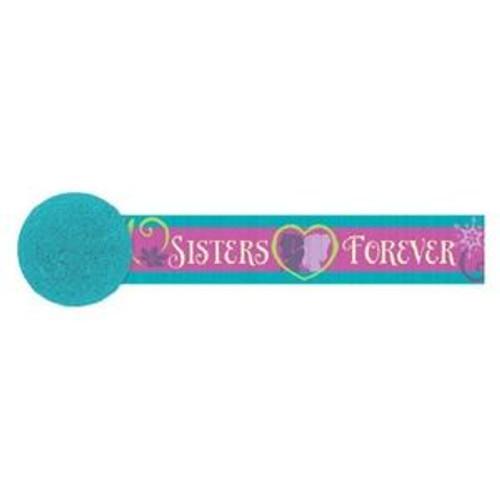 Disney Frozen Crepe Streamer Party Elsa Anna 30' Sisters Forever